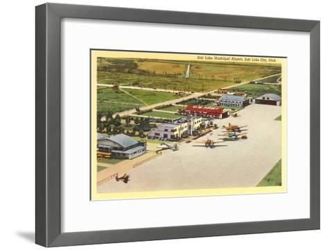 Municipal Airport, Salt Lake City, Utah--Framed Art Print