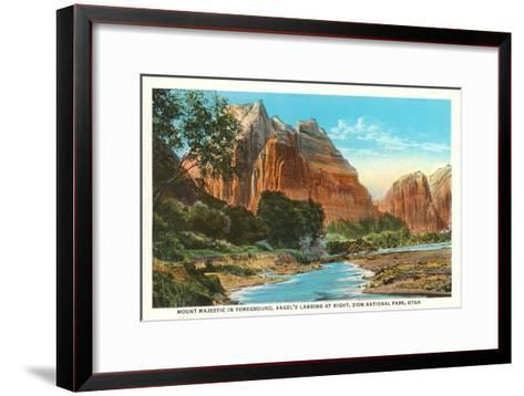 Mt. Majestic, Zion National Park, Utah--Framed Art Print