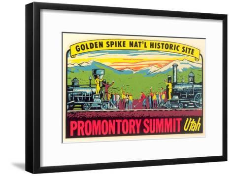Golden Spike, Promontory Summit--Framed Art Print