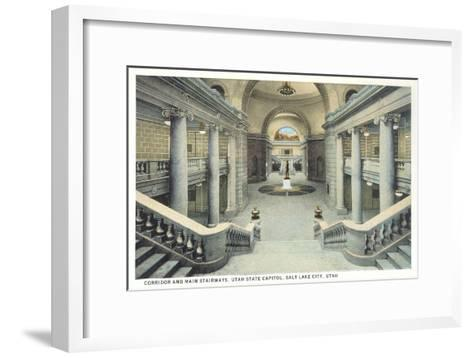 Staircases, State Capitol, Salt Lake City, Utah--Framed Art Print