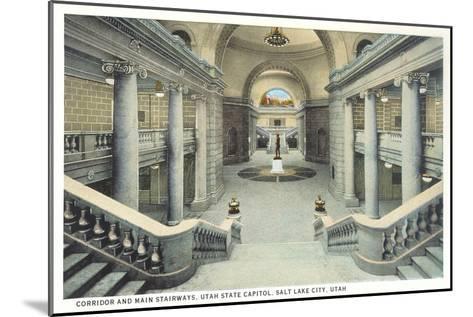 Staircases, State Capitol, Salt Lake City, Utah--Mounted Art Print
