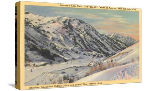Alta Ski Basin, Utah--Stretched Canvas Print