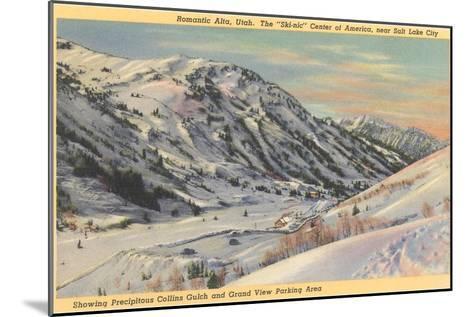Alta Ski Basin, Utah--Mounted Art Print