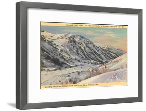 Alta Ski Basin, Utah--Framed Art Print