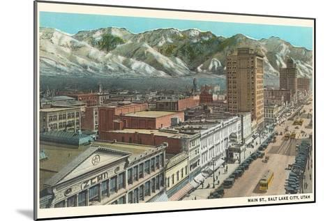 Main Street, Salt Lake City, Utah--Mounted Art Print