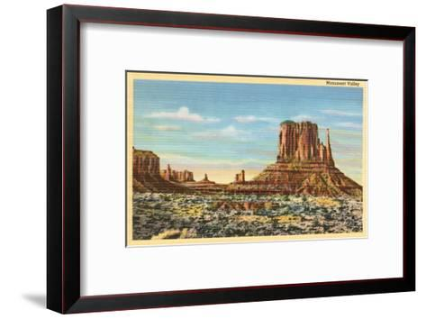 Monument Valley Mitten Butte--Framed Art Print