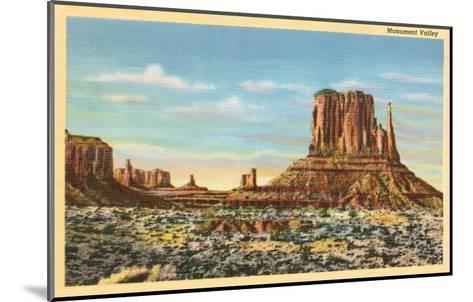 Monument Valley Mitten Butte--Mounted Art Print
