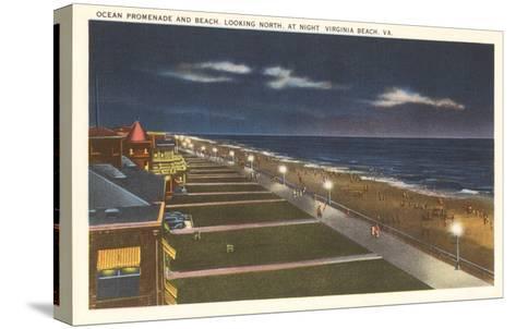 Night, Virginia Beach, Virginia--Stretched Canvas Print