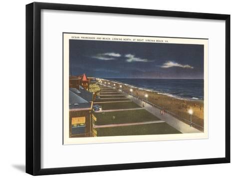 Night, Virginia Beach, Virginia--Framed Art Print