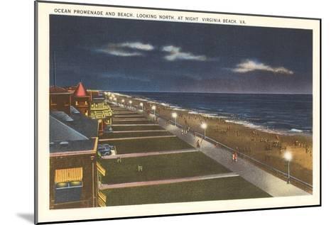 Night, Virginia Beach, Virginia--Mounted Art Print
