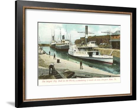 Dry Dock, Newport News, Virginia--Framed Art Print