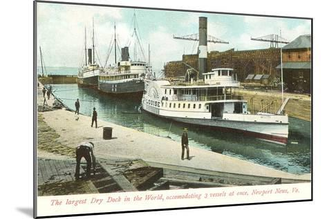 Dry Dock, Newport News, Virginia--Mounted Art Print
