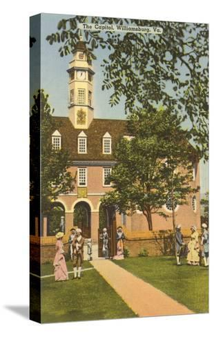 Old Capitol, Williamsburg, Virginia--Stretched Canvas Print