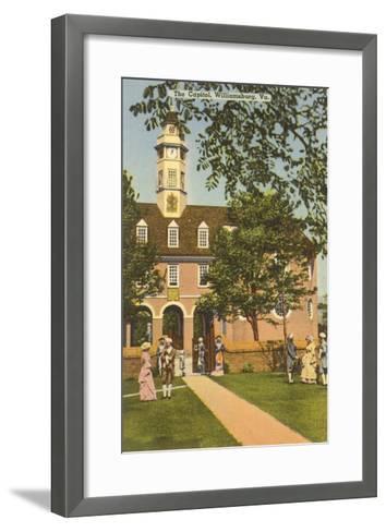 Old Capitol, Williamsburg, Virginia--Framed Art Print