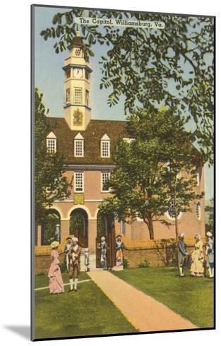 Old Capitol, Williamsburg, Virginia--Mounted Art Print
