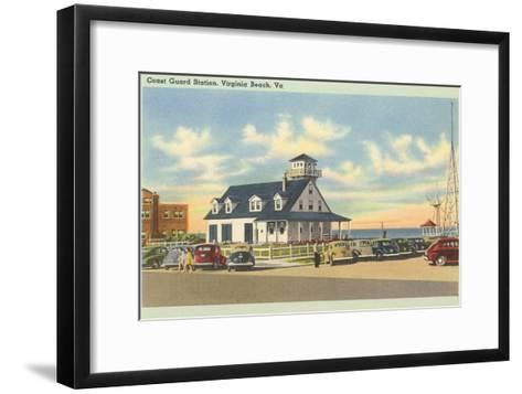 Coast Guard Station, Virginia Beach, Virginia--Framed Art Print