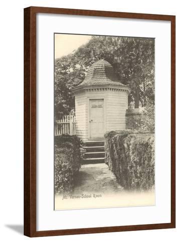 School Room, Mt. Vernon, Virginia--Framed Art Print