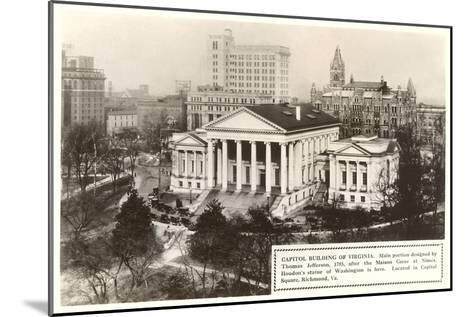 State Capitol, Richmond, Virginia--Mounted Art Print