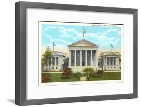 State Capitol, Richmond, Virginia--Framed Art Print