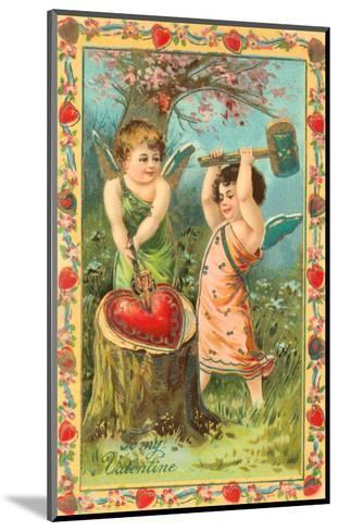 To My Valentine, Cupids Breaking Heart--Mounted Art Print