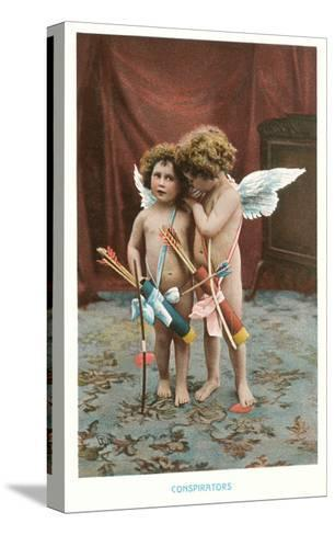 Conspirators, Two Victorian Cupids--Stretched Canvas Print