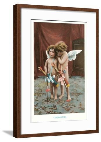 Conspirators, Two Victorian Cupids--Framed Art Print