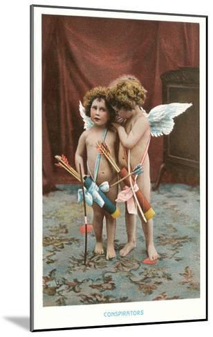 Conspirators, Two Victorian Cupids--Mounted Art Print