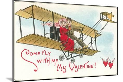 Come Fly with me, Couple in Vintage Biplane--Mounted Art Print
