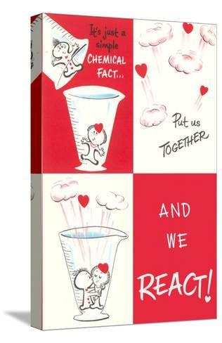 Valentine Cartoon, Chemical Reaction--Stretched Canvas Print