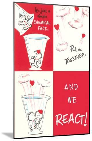 Valentine Cartoon, Chemical Reaction--Mounted Art Print