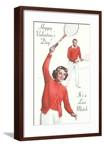 Couple in Matching Tennis Outfits--Framed Art Print