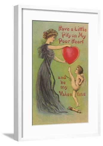 Have Pity on my Heart, Victorian Valentine--Framed Art Print