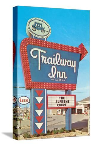 Trailway Inn, Vintage Motel--Stretched Canvas Print
