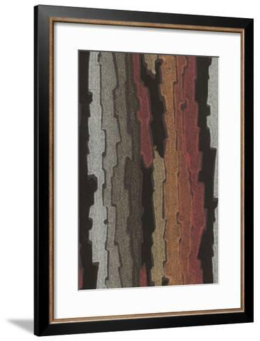 Bark Texture in Various Colors, Abstract Pattern--Framed Art Print