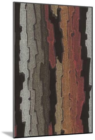 Bark Texture in Various Colors, Abstract Pattern--Mounted Art Print