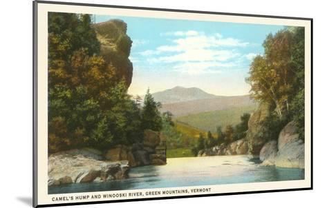 Camel's Hump, Winooski River, Vermont--Mounted Art Print