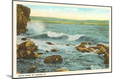 Rocky Point, St. Albans, Vermont--Mounted Art Print