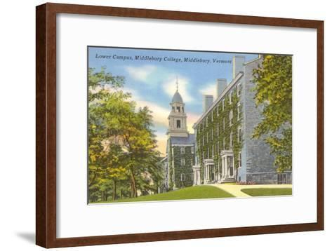 Middlebury College, Middlebury, Vermont--Framed Art Print