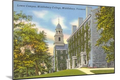 Middlebury College, Middlebury, Vermont--Mounted Art Print