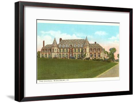 The Chateau, Middlebury, Vermont--Framed Art Print