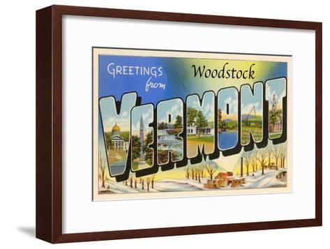 Greetings from Woodstock, Vermont--Framed Art Print