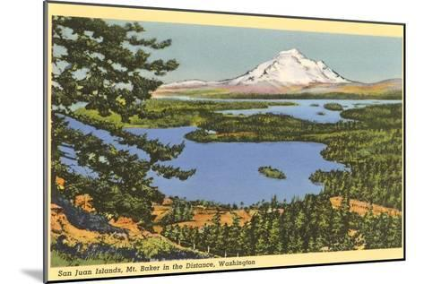 San Juan Islands, Mt. Baker, Washington--Mounted Art Print