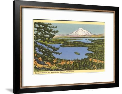 San Juan Islands, Mt. Baker, Washington--Framed Art Print