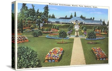 Municipal Greenhouses, Spokane, Washington--Stretched Canvas Print