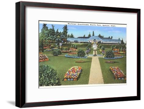 Municipal Greenhouses, Spokane, Washington--Framed Art Print