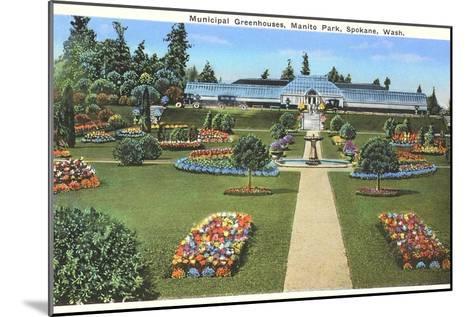 Municipal Greenhouses, Spokane, Washington--Mounted Art Print