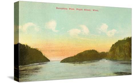 Deception Pass, Puget Sound, Washington--Stretched Canvas Print