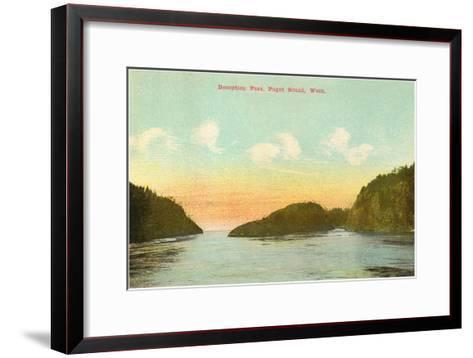 Deception Pass, Puget Sound, Washington--Framed Art Print
