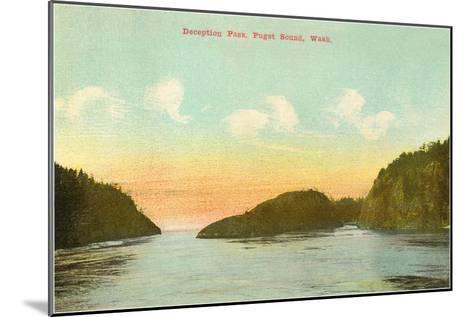 Deception Pass, Puget Sound, Washington--Mounted Art Print