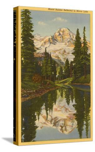 Mt. Rainier from Mirror Lake, Washington--Stretched Canvas Print